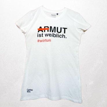 "Shirt ""Armut ist weiblich"" gegen Frauenarmut"