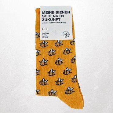 Socken Biene