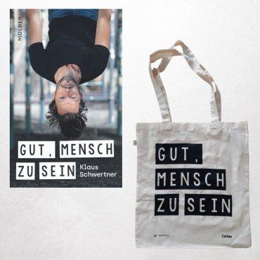 """Angebot Buch + Tasche """"Gut, mensch zu sein"""""""