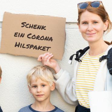 Schenk ein Corona Hilfspaket für eine Familie in der Ukraine