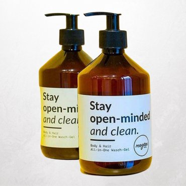 Bio-Flüssigseife Stay open-minded and clean 500ml