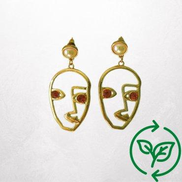 Geometrische Gesicht-Ohrringe - Carla Vintage x Fashion 4 Future