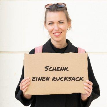 Schenk einen Rucksack für obdachlose Menschen