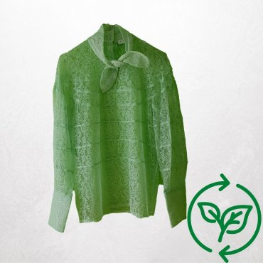 Spitzenbluse Frühlingsgrün Sandro Paris Carla Vintage x Fashion 4 Future