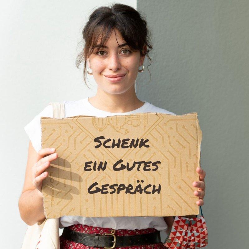 Produkte Spenden | Caritas Wien | Schenk einsamen Menschen eine Stunde Plaudern | Caritas Wirhelfen.shop